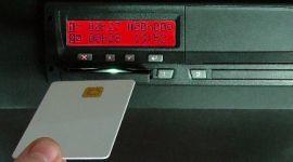 inserimento card per tachigrafo