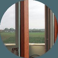 profilato legno alluminio