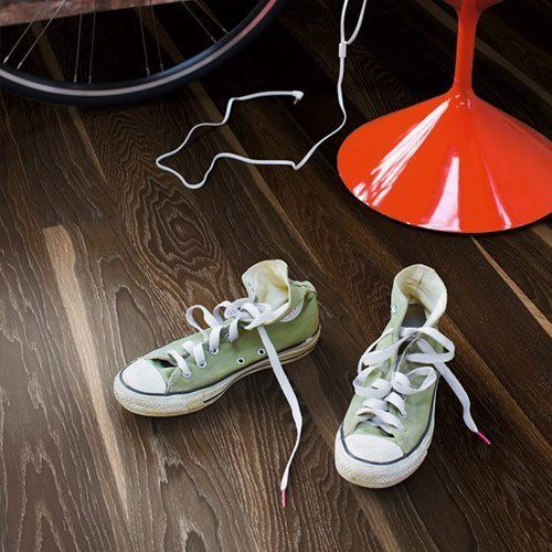 Vinyl floor fitting