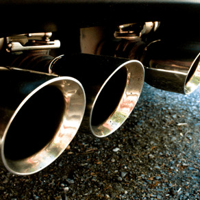 Close up of exhaust pipes