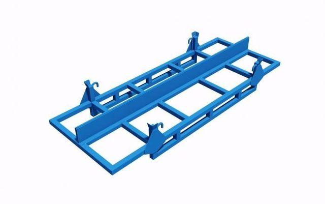 struttura metallica porta barre impilabile e con separatore centrale