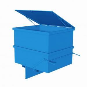 contenitore con fondo apribile blu