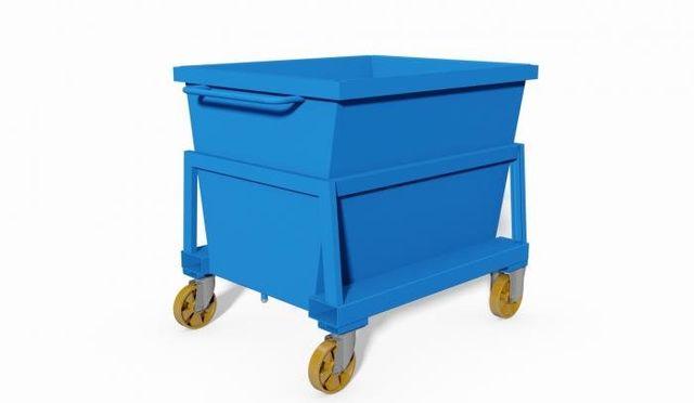 contenitore a tenuta stagna per carrello ribaltatore