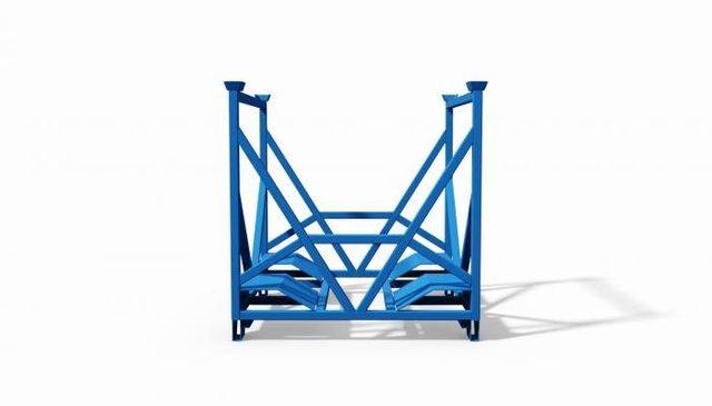 struttura metallica impilabile porta subbi di tessitura