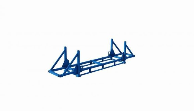 struttura metallica porta barre impilabile