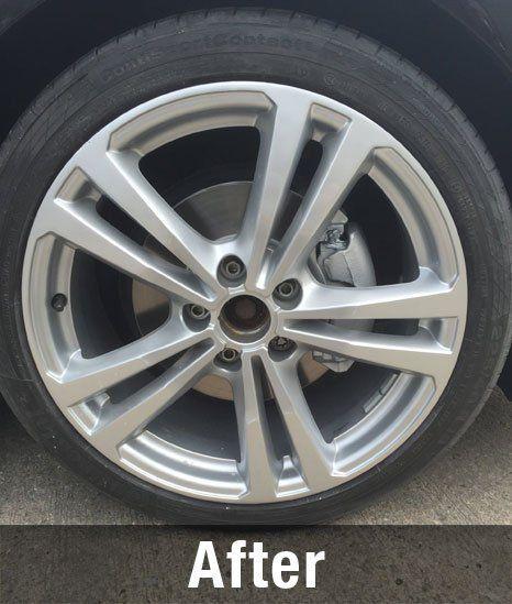 after wheel repair