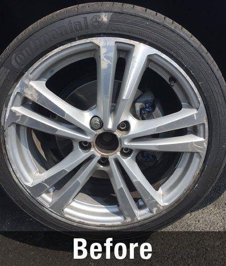 before wheel repair