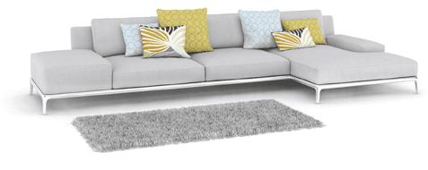 divani per salotti, divani di marca, divani in tessuto