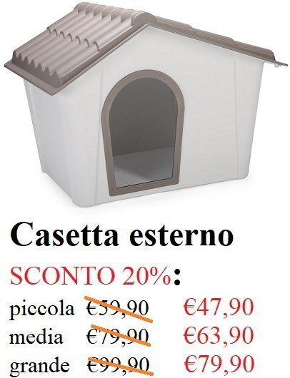 Casetta per esterno per animali- La Casa degli animali- Varese