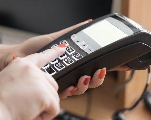 entering credit card PIN