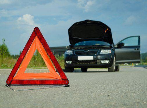 vehicle break down sign