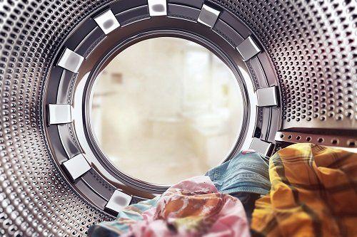l'interno di una lavatrice