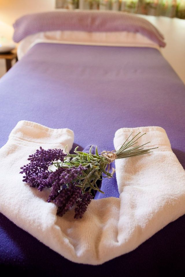 lavender on a towel