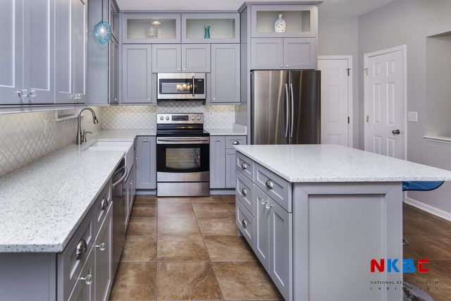 Image Of A Kitchen Featuring Pearl Gray Cabinets