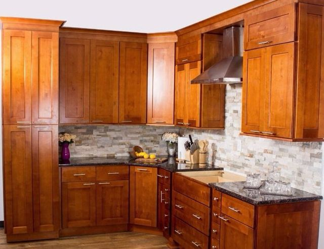 Image Of A Kitchen Featuring Toffee Cabinets