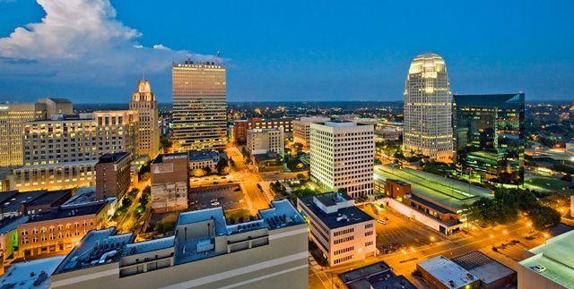 Downtown Winston Salem, NC Skyline