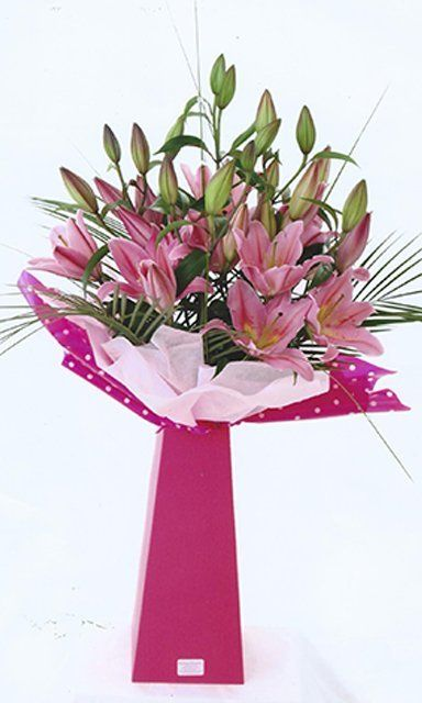Pink bouquet arrangement