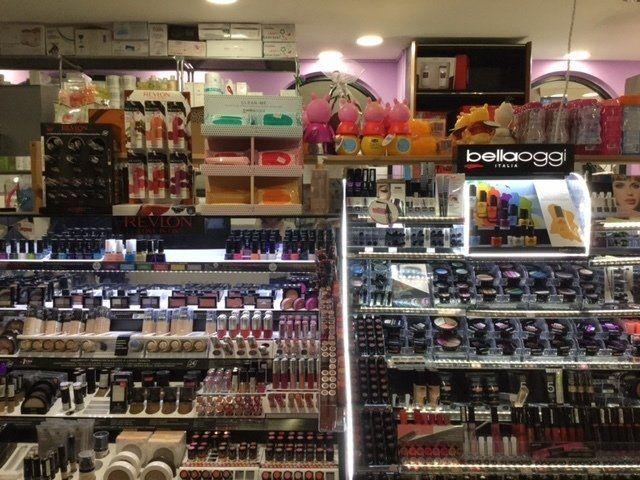 Esposizione di cosmetici