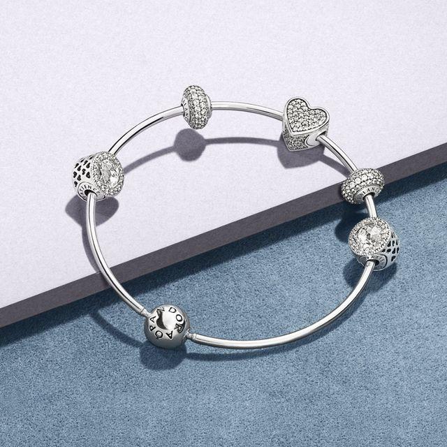 bracciale in argento componibile a marchio racconti dal cielo