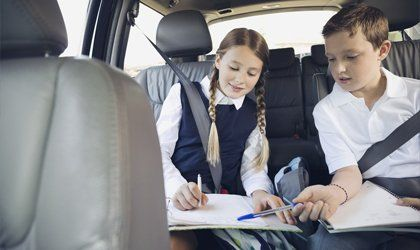 kids in a car