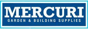 mercuri garden and building supplies buisness logo