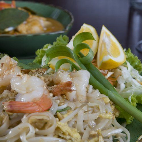 Shrimp noodles from Thai Silk in Havelock North
