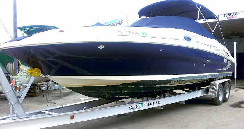SEA-TECH Aluminum Boat Trailer for a 26 - 28' boat up to 10,000 lbs