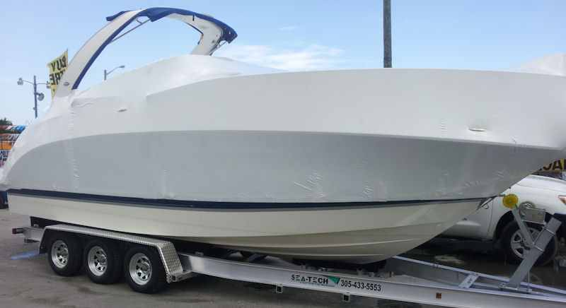 SEA-TECH Aluminum Boat Trailer for a 32 - 34' boat up to 15,000 lbs includes 3 sets of Kodiak disc brakes