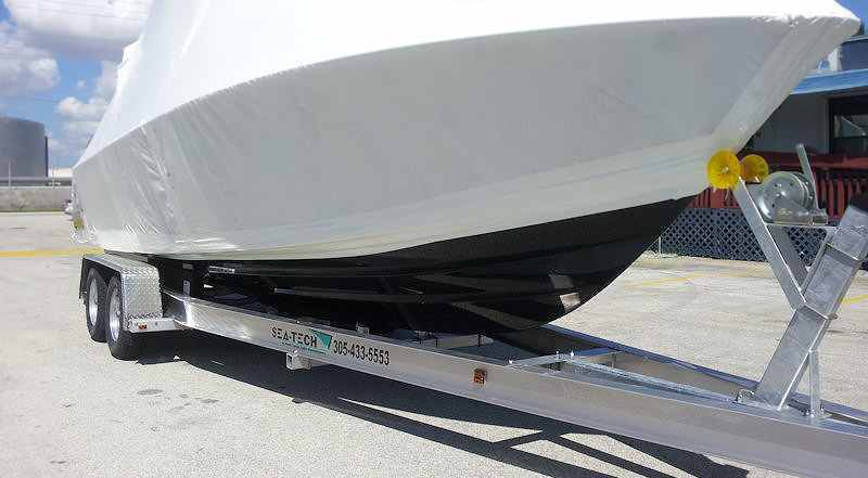 SEA-TECH Aluminum Boat Trailer for a 24 - 26' boat up to 10,000 lbs