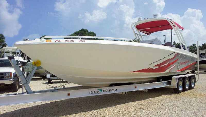 SEA-TECH Aluminum Boat Trailer for a 28 - 30' boat upt to 10,000 lbs includes 2 sets of Kodiak disc brakes