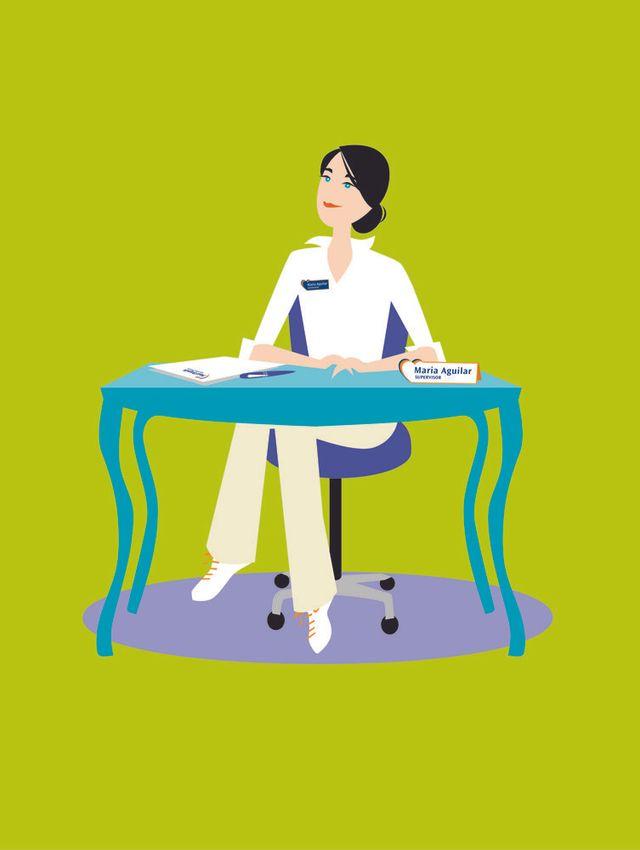 Maid Brigade sales person sitting at desk