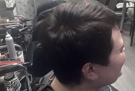 A short dark haircut