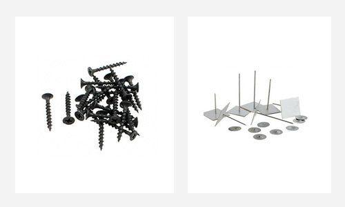 Screws and nail tacks