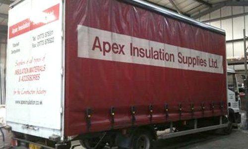 Insulation supply vehicle