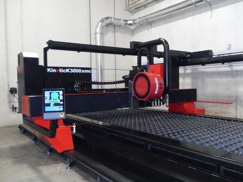 View of a machine for profiling