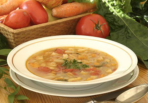 Zuppa di legumi al ristorante La Buona Forchetta a Ragusa