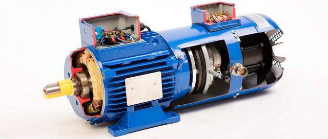 motore elettrico blu