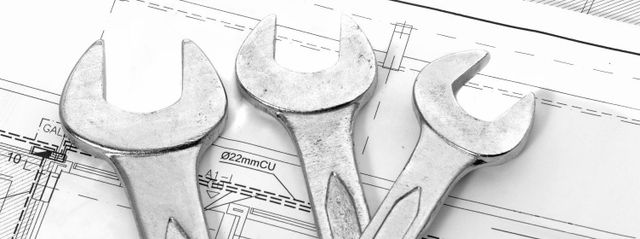 Tools and plans used for Thames Valley plumbing services