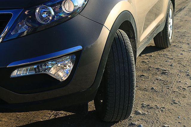 Car having projected headlamp