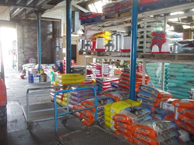 Warehouse with farm feeds