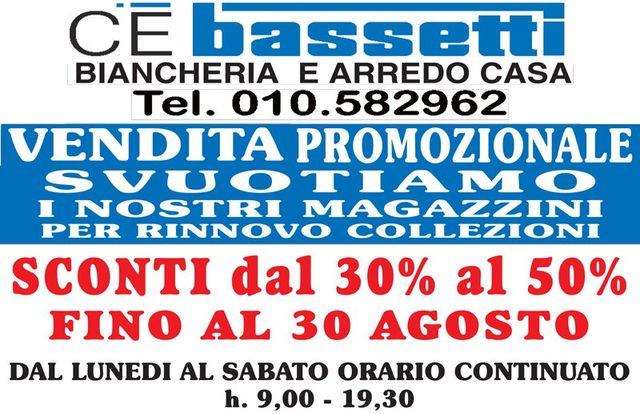 sconti Bassetti Genova