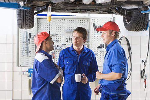 Motor mechanics and colleague in Aiea, HI
