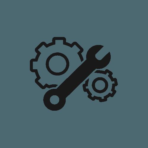 Icona raffigurante ingranaggi e chiave inglese