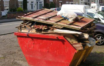 rubbish accumulated