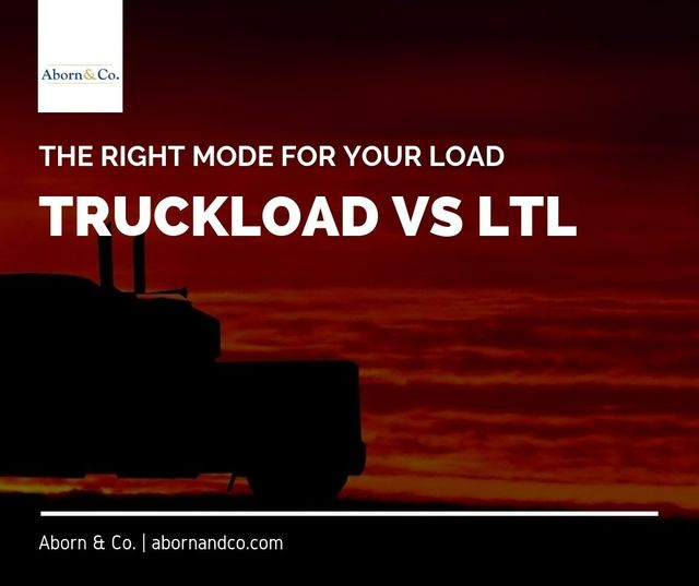 Truckload vs LTL: The Right Mode for your Load