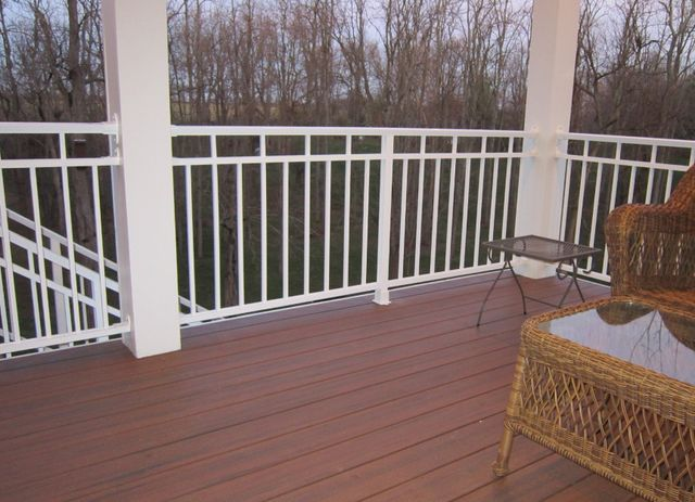 Handcrafted railing installed in Cleves, OH