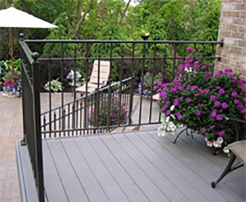 Customized railing for the deck installed in Cleves, OH