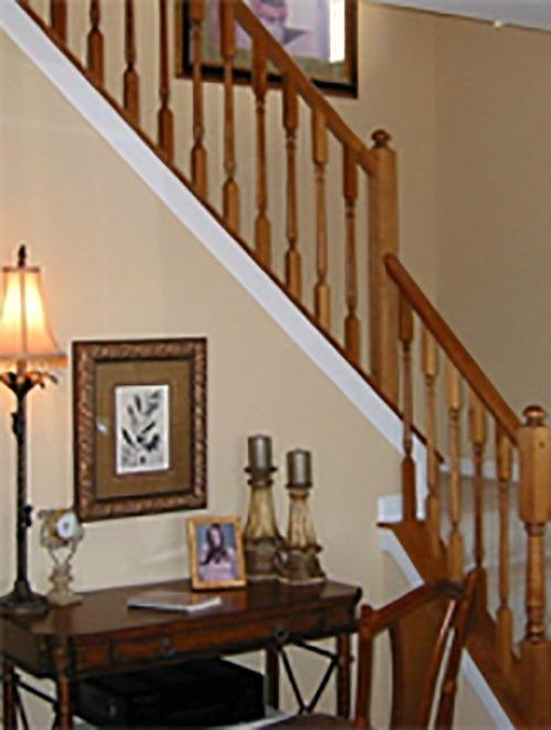 Iron railing for stairs installed in Cleves, OH