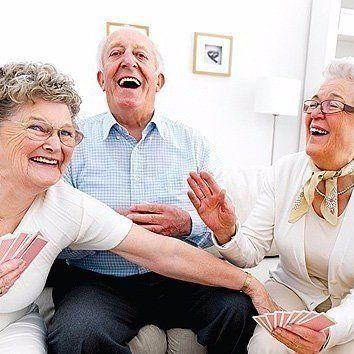 Elderly playing games at Aldersgate Village