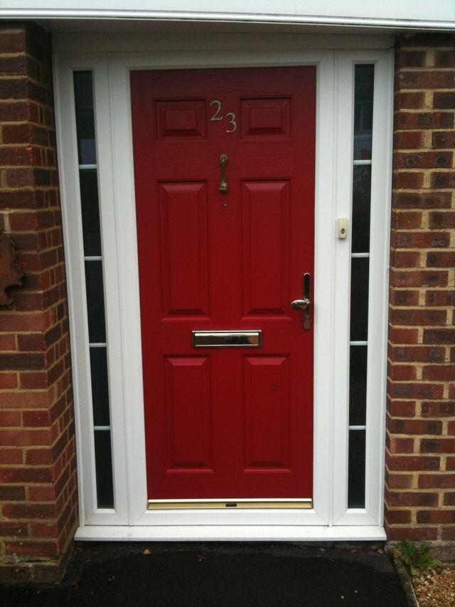 A red uPVC door